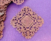 10pcs 40mm Antique Copper Filigree Diamond Patchs A10-1R