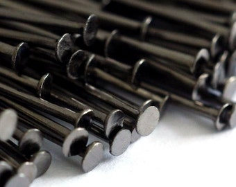 200pcs 50mm Gunmetal  Headpins 2 inch