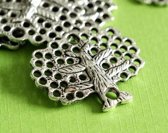 Clearance Lead Free 10pcs Antique Silver Tree Link Pendants LFH20099Y