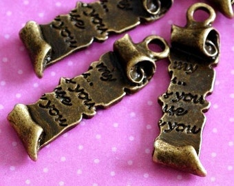 Sale 10pcs Antique Bronze finish Letter pendants EA11621Y-AB