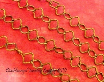5 Feet Antique Bronze Flower Chains CHT086Y-AB