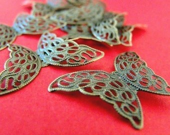 20pcs Antique Bronze Butterfly Charms I-01