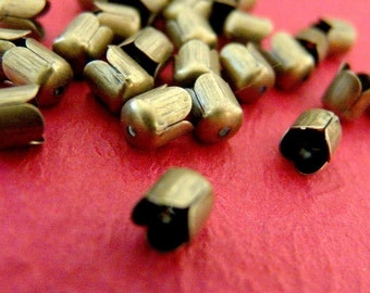 Sale 50pcs Antique Bronze Bead Caps E015Y-NFAB