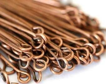 Nickel Free 300pcs 35mm Antique Copper Eye Pins
