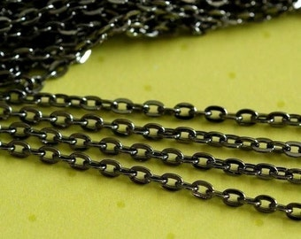 10 Feet Gunmetal Cross Chains 002-B