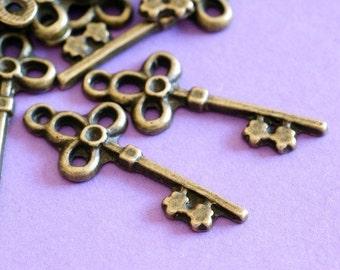 Sale Lead Free 20pcs Antique Bronze Key Pendants MLF8940Y-NF