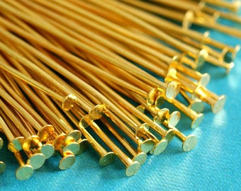 200ps 2inch Golden Headpins 50mm