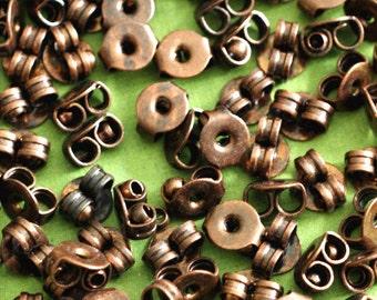 Sale 100pcs Antique Copper Earring Backs