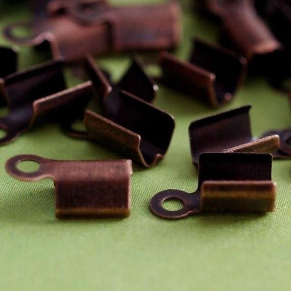 25pcs Antique Copper finish large End Caps