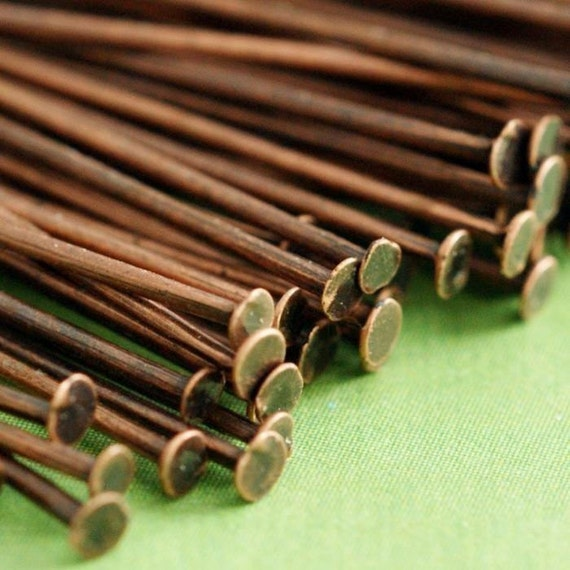 1000pcs 2in Antique Copper HEADPINS FINDING 50mm