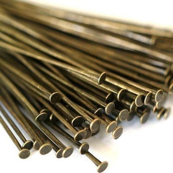 150ps 35mm Antique Bronze Headpins FINDING