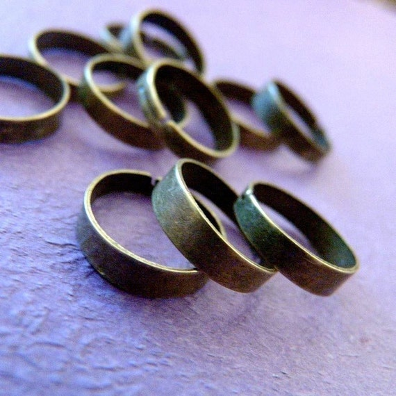 10pcs ANTIQUE BRONZE RING BASE BLANK FINDINGS R4
