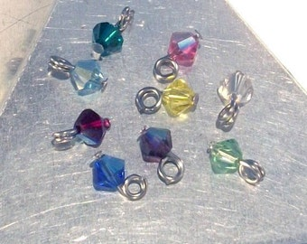 Add One Crystal to a purchased Single Charm on bail or clip or belly ring Or bracelet in Debs Treasures Shop Only