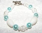 Child's White and Blue Bracelet - 2 RESERVED
