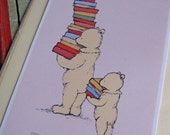 6 Book Plates - For the Love of Books Bears