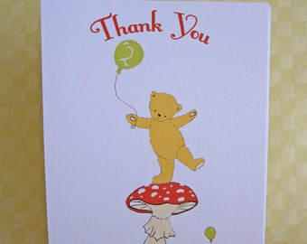 Thank You Cards Personalised  - Teddy Bear Picnic