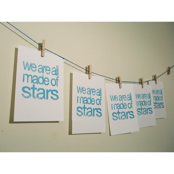 we are all made of stars UNFRAMED gocco print