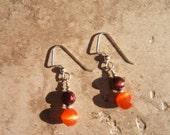 Hokie Spirit - Pearl Earrings From Sandra Eileen - Artisan Jewelry For Your Good Life