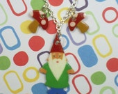 Reserved Custom Listing - Woodland Cuties Necklaces - Gnome