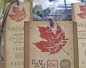 Rustic Autumn Wedding Save the Date Bookmarks