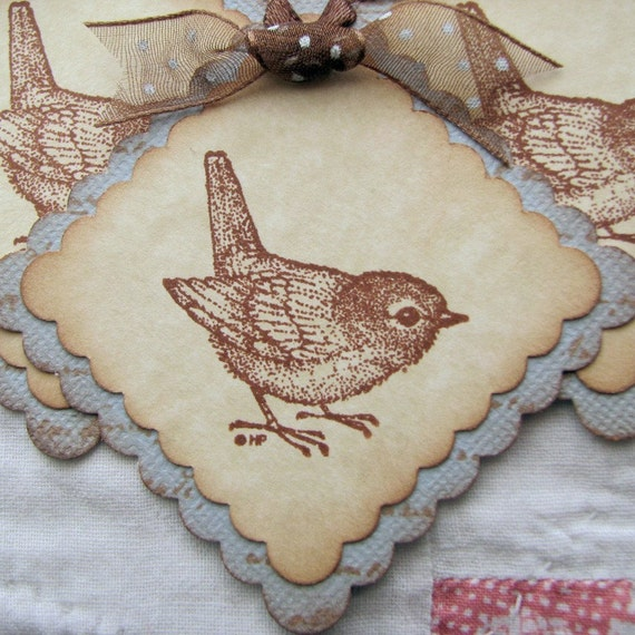 Sweet Baby Bird Square Tags