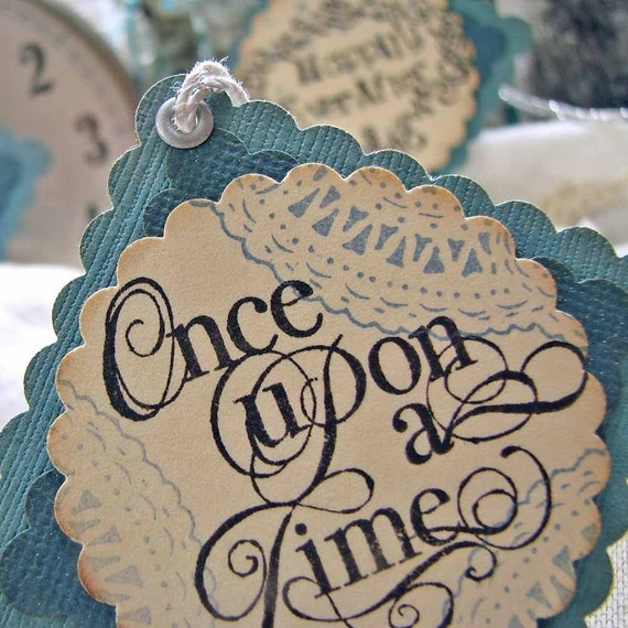 Romantic Wedding Gifts: Gift Tag Wedding Favors Romantic Fairytale Words