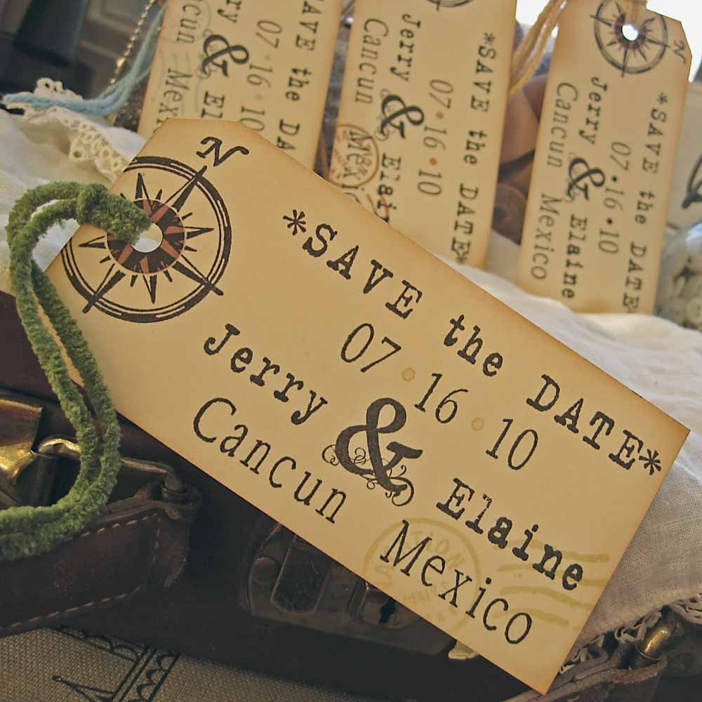 Save the Date Shipping Luggage Tags for Destination Weddings