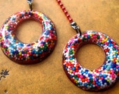 REAL Sprinkle Donut Hole Resin Earrings - RESERVED FOR SAHNIKA