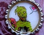 Zombie Gives You His Heart Bottle Cap Necklace