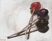 Tootsie Pop Pin Drop -- Original Acrylic Painting