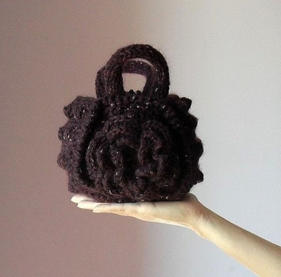 The Purple Rose of Cairo - Crochet Clutch Pouch