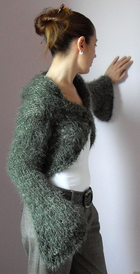 Lace Bell Sleeve -  Knit Shrug