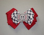 Elephant Football Inspired Large Layered Boutique Bow