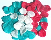 125 Lot of 3 Spring Color Vintage Plastic Leaves Beads Charms