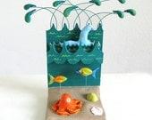 Underwater Scene Loch Ness Monster Mini-Sculpture