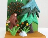 Bigfoot Diorama - Limited Edition Ceramic Mini Sculpture