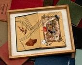 SALE - Mixed Media Artwork, Natural Materials Altered Book