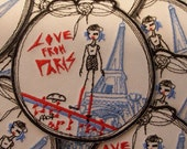 Embroidery patch LOVE FROM PARIS