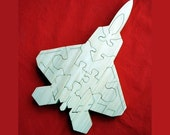 F-22 Raptor - Childrens Wood Puzzle - New - Hand-Made - Child-Safe