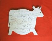 CHUBBY COW - Childrens Wood Puzzle Game - New Toy - Hand Made - Child Safe