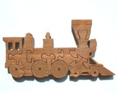 Steam Engine - Train - Wood Puzzle Game - New Toy - Hand Made - Child Safe