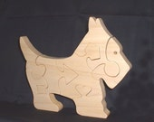 Scottish Terrier Puppy - Childrens Wood Puzzle Game - New Toy - Hand Made - Child Safe