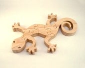 Gecko - Childrens Wood Puzzle Game - New Toy - Hand-Made - Child-Safe