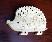 Hedgehog - 8 pc - Childrens Wood Puzzle Game - New Toy - Hand-made - Child-safe
