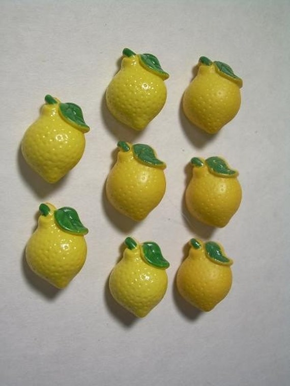 Items similar to lemon shaped buttons on etsy for Lemon button