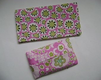 Amy Butler Daisy Chain Checkbook Holder  Tissue Holder