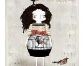Mademoiselle Bird - 5x7 inches print