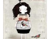Mademoiselle Bird - 5x7 inches print