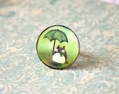 LAST ONE - Totoro  round cameo ring