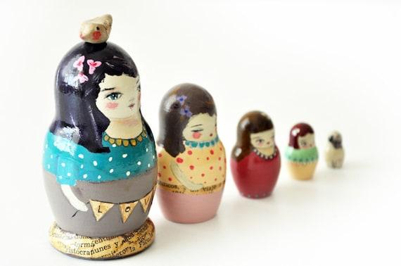 Muniecas nesting dolls - OOAK